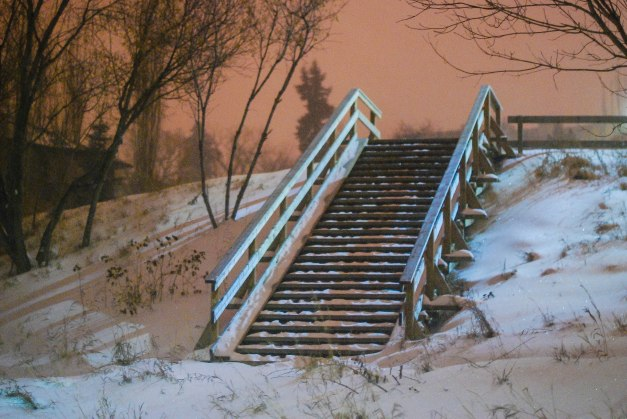 """Stairs in the Snow"""