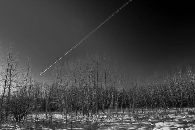 Falling Star? (no, just a jet's trail)
