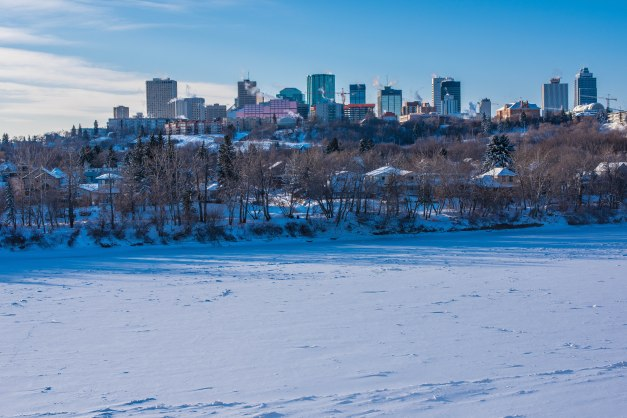 Edmonton January Skyline and River