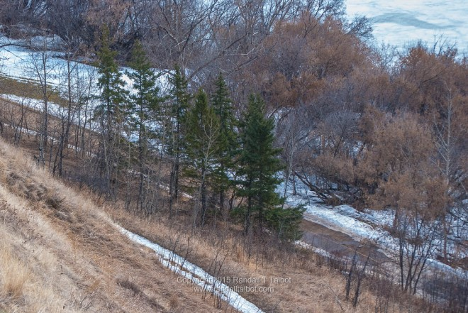 Steep River Valley Slope
