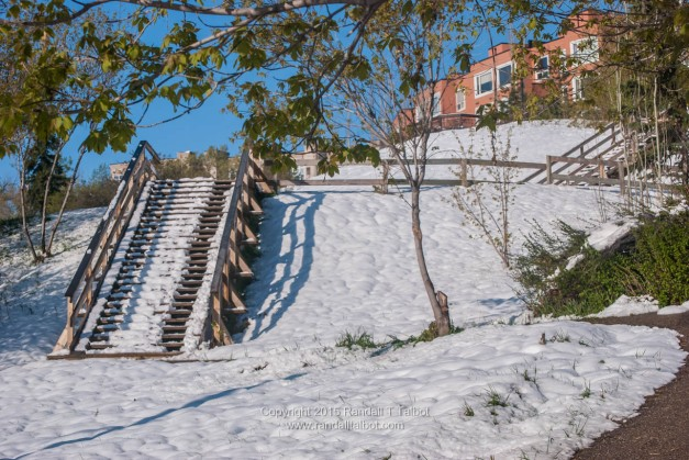 Stairs in the Sun and Snow