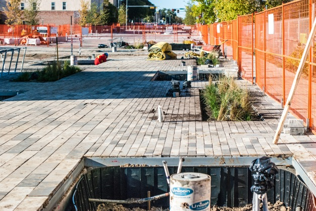 Final Landscaping on 96th Street (looking north)